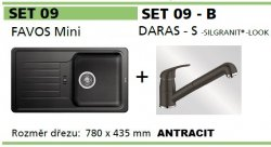 BLANCO SET 09 - B (FAVOS Mini + DARAS-S) antracit