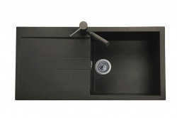 Sinks Sinks AMANDA 990 Metalblack + Sinks MIX 350 P lesklá