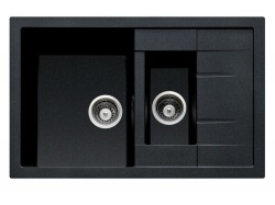 Sinks Sinks CRYSTAL 780.1 Metalblack + Sinks MIX 3 P - 74 Metalblack